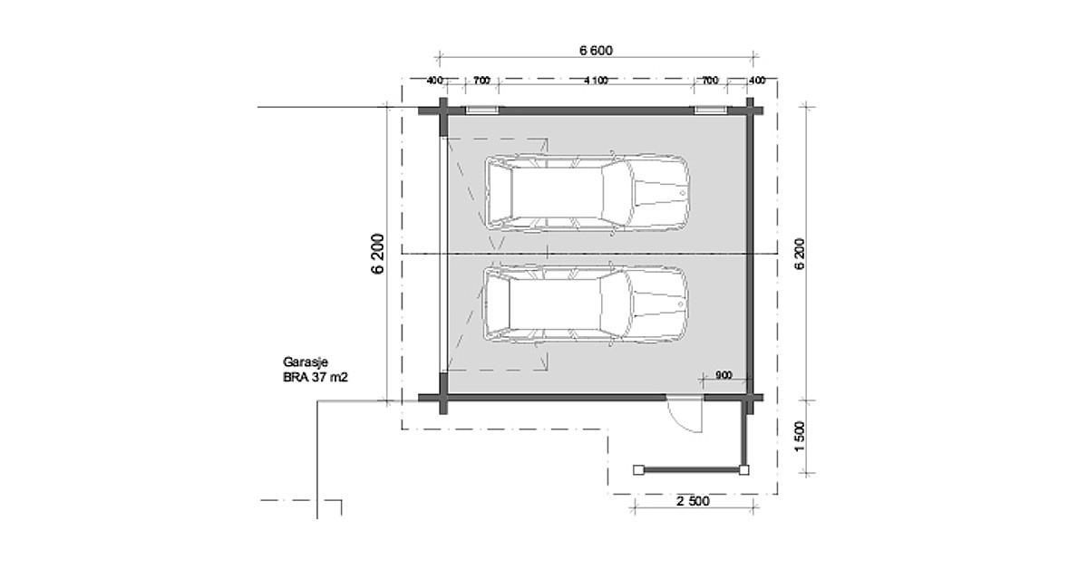 Plantegning garasje 1200x628