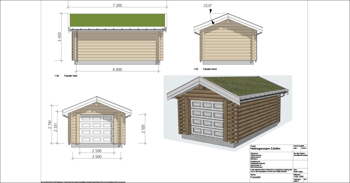 Tegning garasje